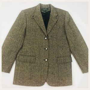 Raulph Lauren Petite 12 Wool Blazer Coat Jacket